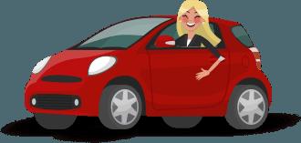 kırmızı araba